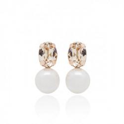 Pink Gold Earrings Celine pearl
