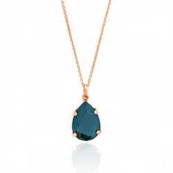 Pink Gold Necklace Celine teardrop