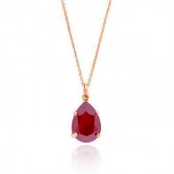 Collar lágrima royal red de Celine en oro rosa