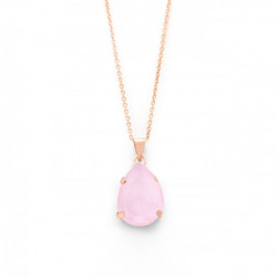 Collar Celine lágrima oro rosa