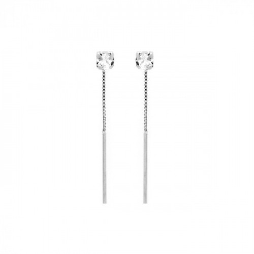 Silver Earrings Minimal bar