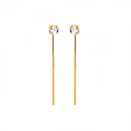 Gold Earrings Minimal bar
