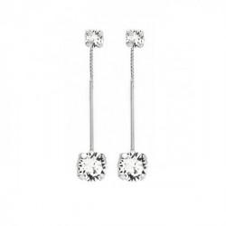 Silver Earrings Minimal double
