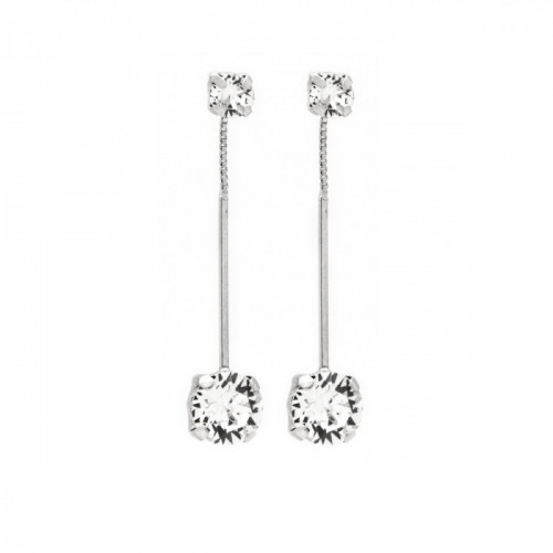 Silver Earrings Minimal double