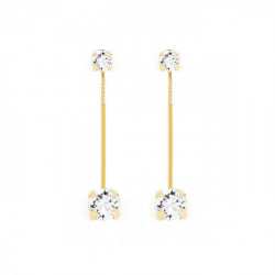 Gold Earrings Minimal double