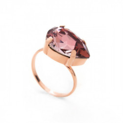 Anillo lágrima antique pink de Celine en oro rosa