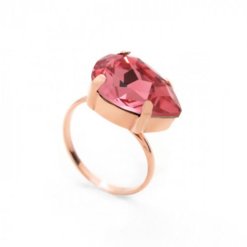 Anillo lágrima oro rosa Peach de Celine en oro rosa