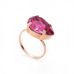 Pink Gold Ring Celine teardrop L