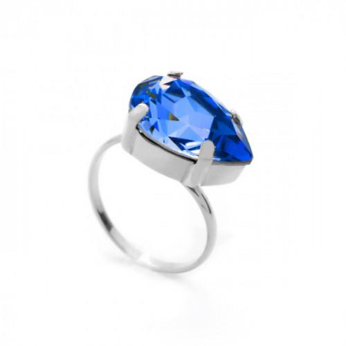 Silver Ring Celine teardrop L