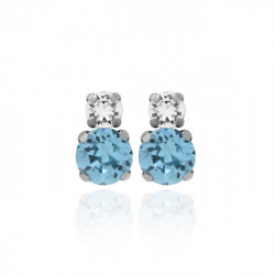 Silver Earrings Celine You and I