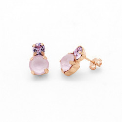 Pink Gold Earrings Celine You and I