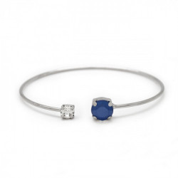 Silver Cuff bracelet Celine Basic
