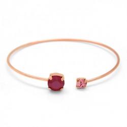 Pulsera caña círculos royal red de Celine en oro rosa