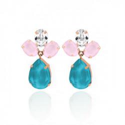 Pink Gold Earrings Celine flower