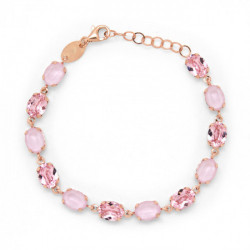 Rose Gold Bracelet Celine oval Light Rose