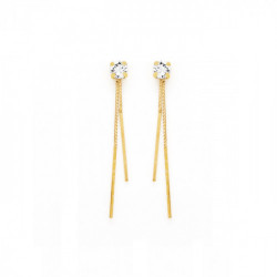 Gold Earrings Minimal double bar
