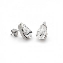 Pendientes lágrimas crystal de Celine en plata