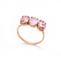 Anillo triple powder rose de Celine en oro rosa