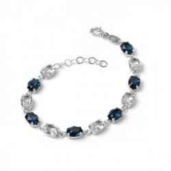 Pulsera oval denim blue de Celine en plata
