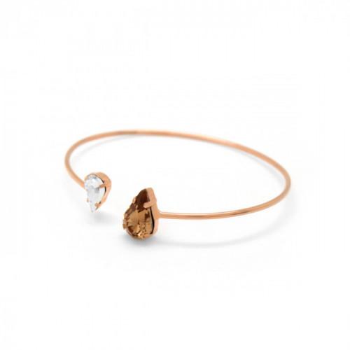 Pink Gold Cuff Bracelet Celine Drops