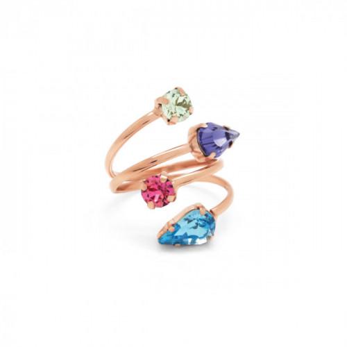 Pink Gold Ring Celine multicolor