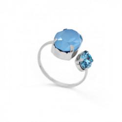 Anillo abierto oval summer blue de Celine en plata