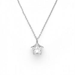 Silver Necklace Celine Star