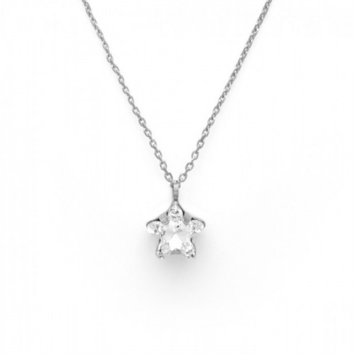 Collar Celine Star plata