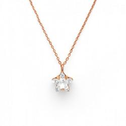 Collar estrella crystal de Celine en oro rosa