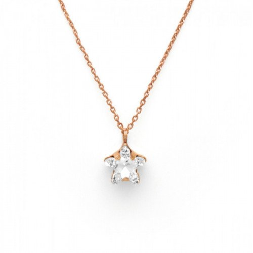 Pink Gold Necklace Celine Star