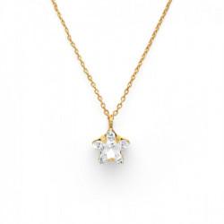 Collar estrella crystal de Celine en oro