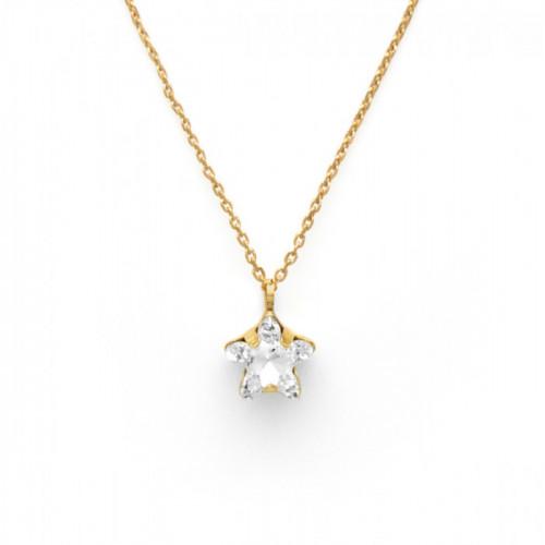 Gold Necklace Celine Star