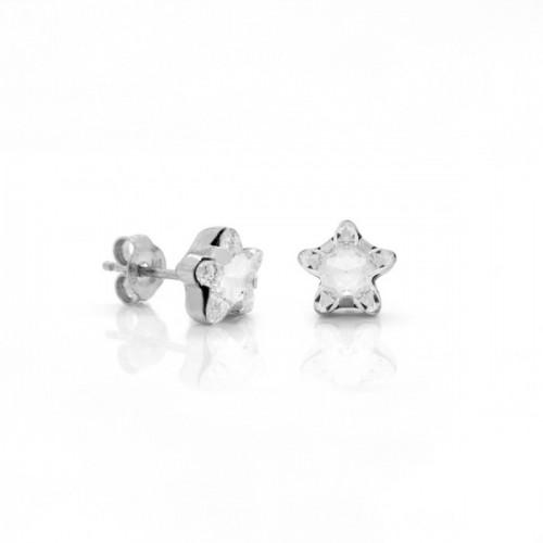 Silver Earrings Celine Star