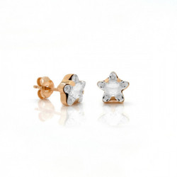 Pendientes estrella crystal de Celine en oro rosa