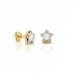 Pendientes Celine Star oro