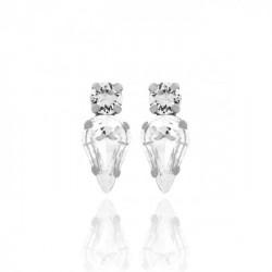 Silver Earrings Celine Drops
