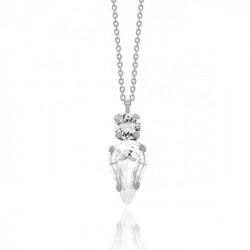 Collar lágrima crystal de Celine en plata