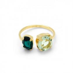Gold Ring Celine transparent