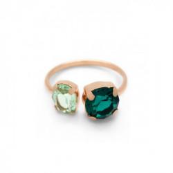 Anillo abierto emerald de Celine Transparente en oro