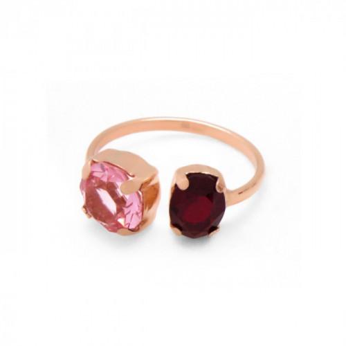 Pink Gold Ring Celine transparent