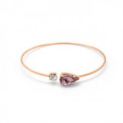 Pulsera caña lágrima light amethyst de Celine en oro rosa