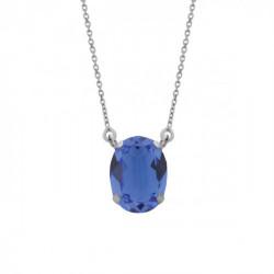Collar oval sapphire de Celine en plata
