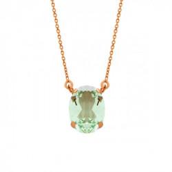 Collar oval chrystal de Celine en oro rosa
