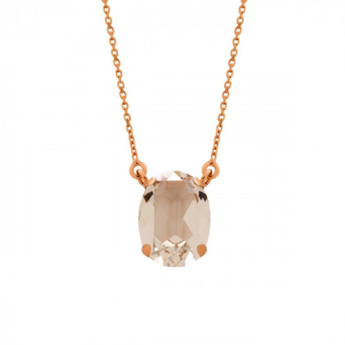 Pink Gold Necklace Celine oval big