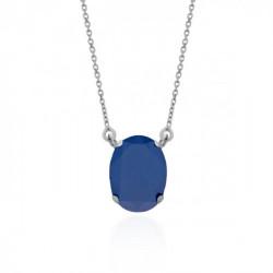 Collar oval royal blue de Celine en plata