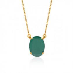 Gold Necklace Celine oval big