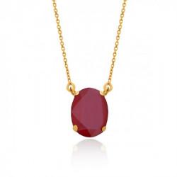 Collar oval royal red de Celine en oro