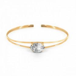 Pulsera caña oval crystal de Celine en oro