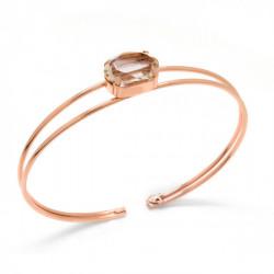 Pulsera caña oval light silk de Celine en oro rosa