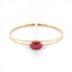 Pulsera caña oval royal red de Celine en oro
